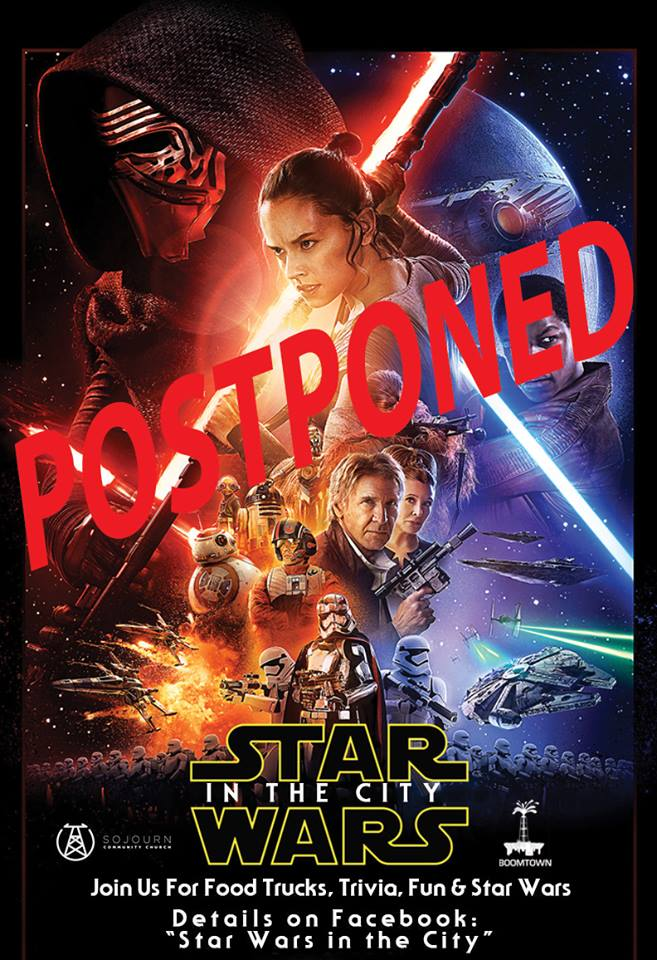 starwarsinthecitypostponed